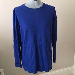 Cobalt blue crew neck sweater